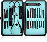 15-Piece Manicure Set for Women Men Nail Clippers Stainless Steel Manicure Kit - Portable Travel Grooming Kit...