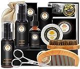 Upgraded Beard Grooming Kit w/Beard Conditioner,Beard Oil,Beard Balm,Beard Brush,Beard Shampoo/Wash,Beard...
