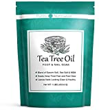 Tea Tree Oil Foot & Body Soak-Alleviates Toenail Fungus, Athletes Foot & Stinky Foot Odor. Softens Dry...
