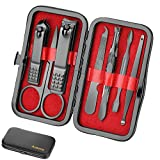 Manicure Set Personal care - Nail Clipper Kit Luxury Manicure 8 In 1 Professional Pedicure Set Grooming kit...